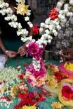 Ghirlanda indiana del fiore Fotografie Stock