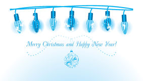 Ghirlanda luminosa di Natale Fotografie Stock Libere da Diritti