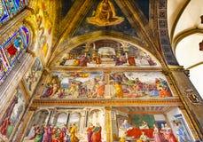 Ghirlandaiofresko Santa Maria Novella Church Florence Italy stock afbeeldingen