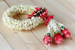 Ghirlande del fiore nello stile tailandese Fotografia Stock Libera da Diritti