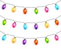 Ghirlande delle lampadine di Natale Immagine Stock Libera da Diritti