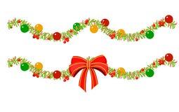 Ghirlande di Natale con un grande arco Fotografia Stock