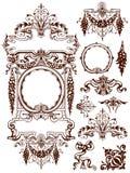 Ghirlande ed elementi di progettazione dell'ornamento degli swags Fotografia Stock Libera da Diritti