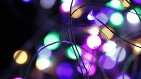 Ghirlande elettriche del ` s del nuovo anno stock footage