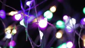 Ghirlande elettriche del ` s del nuovo anno video d archivio