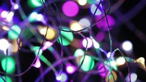 Ghirlande elettriche del ` s del nuovo anno archivi video