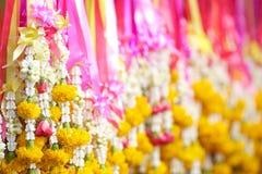 Ghirlande tailandesi del fiore Fotografia Stock Libera da Diritti
