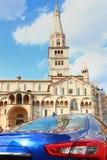 Ghirlandina,圆顶, sportcar,摩德纳 免版税图库摄影