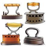 Ghisa rivestente di ferro degli apparecchi del ferro del carbone Immagini Stock