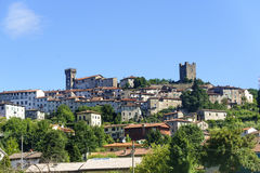 Ghivizzano (Lucca), medieval town Stock Photos