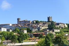 Ghivizzano (Lucca), mittelalterliche Stadt stockfotos