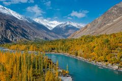 Ghizer Valley. Northern Area Pakistan stock photo
