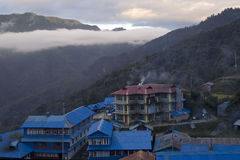 Ghorepani lodge in Himalayas. Nepal Royalty Free Stock Images