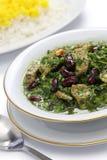 Ghormeh sabzi, Persian herb stew Stock Image