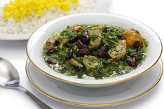 Ghormeh sabzi, Persian herb stew Stock Photos