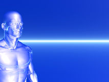 Ghost. Abstract human body - 3d scene Stock Images