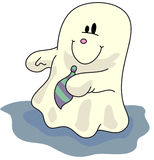 Ghost. A night creeper, a halloween classic vector illustration