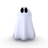 Ghost. 3d generated image of a ghost isolated on white background vector illustration