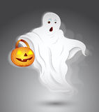 Ghost. Conceptual Art Design of Halloween Ghost Vector Illustration Royalty Free Stock Photography