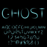 Ghost alphabet spooky font. Ghost alphabet spooky font for design Stock Photography