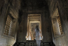 ghost in Angkor Wat, Cambodia Stock Images