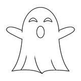 Ghost april fools s day thin line Royalty Free Stock Images