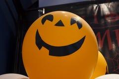 Ghost balloon. Smiling face balloon for Halloween Royalty Free Stock Photos