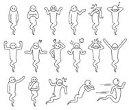 Ghost basic poses and postures icons. royalty free illustration