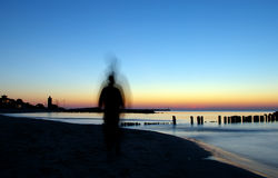 Ghost on beach Stock Photography