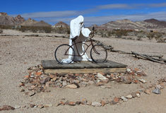 Ghost with a bicycle Stock Photo