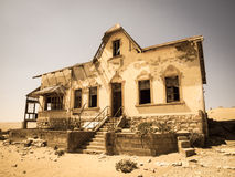 Ghost buildings of old diamond mining town Kolmanskop in Namibia Stock Image