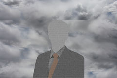 The ghost of a business man Royalty Free Stock Images