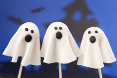 Ghost cake pops Royalty Free Stock Photography