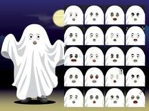 Ghost Cartoon Emotion faces Vector Illustration Royalty Free Stock Photos