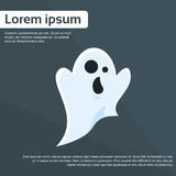 Ghost Cartoon Halloween Character Flat Vector Stock Photos