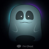 Ghost catoon charactor very cute transparency for  Royalty Free Stock Photos