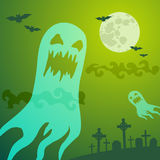 Ghost in the cemetery Royalty Free Stock Photography