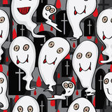 Ghost Character Seamless Pattern_eps Royalty Free Stock Image