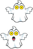 Ghost Character With Yellow Eyes Stock Photo