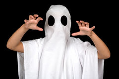 Ghost child. Halloween ghost child with big balck eye Stock Photography