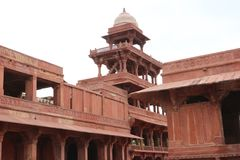The ghost city of Fatehpur Sikri in Rajasthan, India. Fatehpur Sikri, ancient town in Agra, India The name of the city derives from the village called Sikri royalty free stock photos