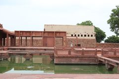 Fatehpur Sikri, ancient town in Agra, India. The ghost city of Fatehpur Sikri in Rajasthan, India The name of the city derives from the village called Sikri stock images