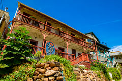 Ghost City Inn. Jerome, Arizona USA - April 27, 2017: The Ghost City Inn is a popular Bed and Breakfast in this scenic small mountain town located in Yavapai royalty free stock photo