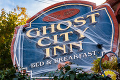 Ghost City Inn. Jerome, AZ USA - October 16, 2016: The Ghost City Inn is a popular tourist destination in this trendy small mountain town overlooking the Verde Stock Photography