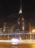 Ghost city night lights Royalty Free Stock Photos