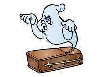 Ghost come out from coffin Royalty Free Stock Image