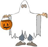 Ghost Costume royalty free illustration