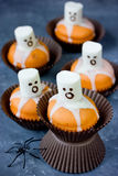 Ghost cupcakes for Halloween party Royalty Free Stock Images