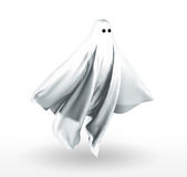 Ghost. 3d cloth shaped like a floating ghost vector illustration