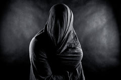 Ghost in the dark. Scary ghost in the dark Royalty Free Stock Photography
